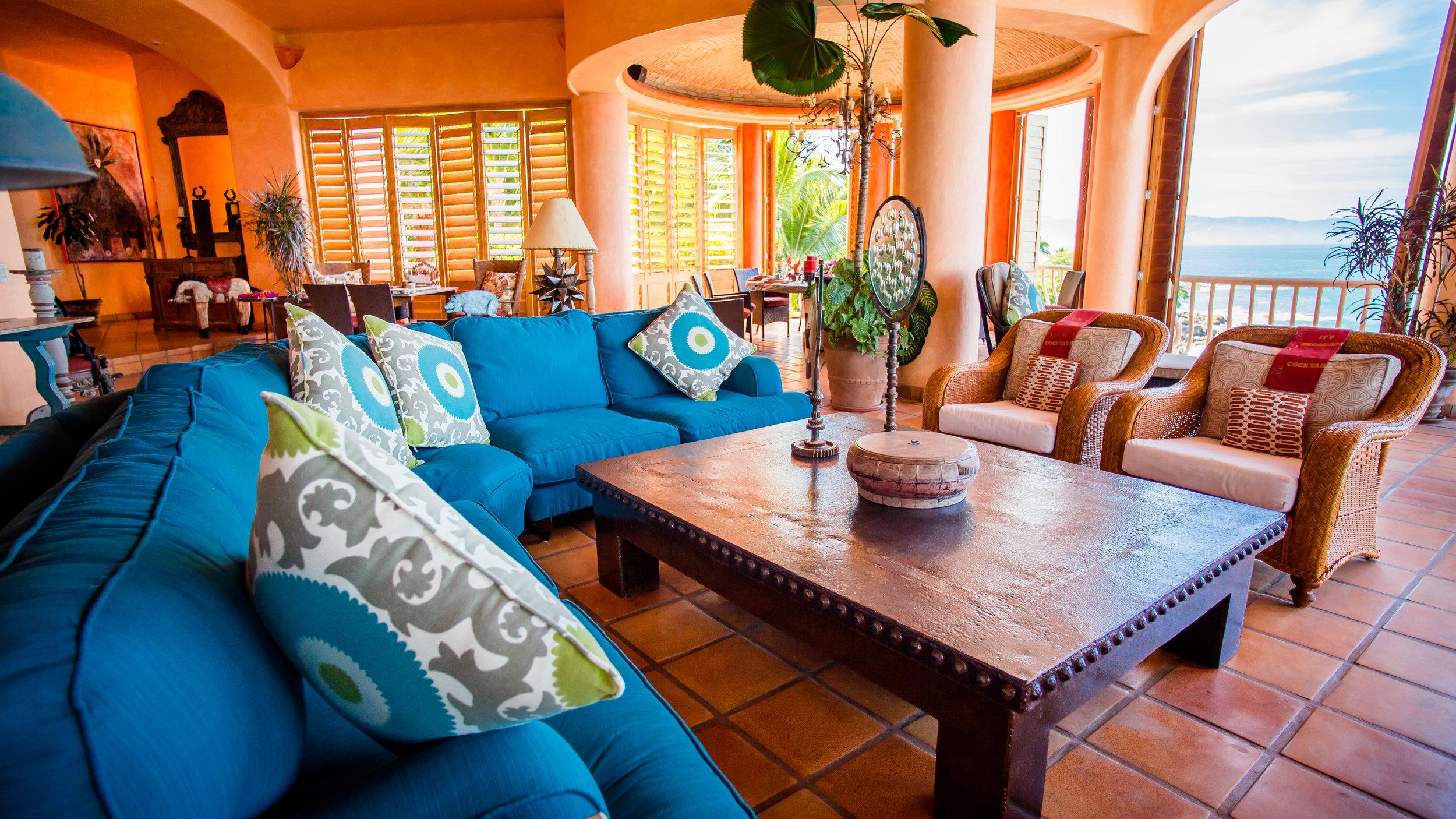 Vacation Vallarta - Villa Estrella Mar Living Room