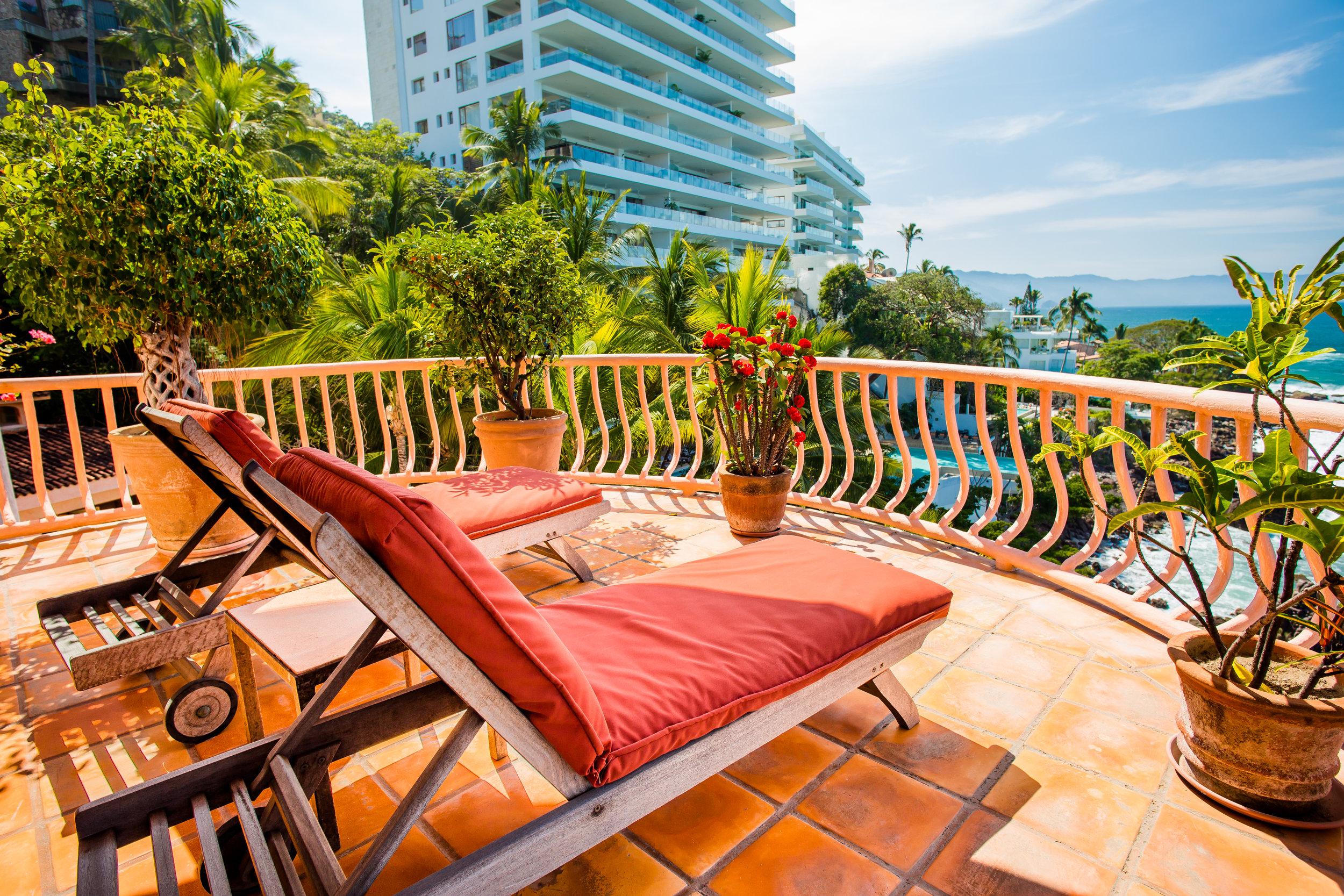 Vacation Vallarta - Villa Estrella Mar Master Balcony