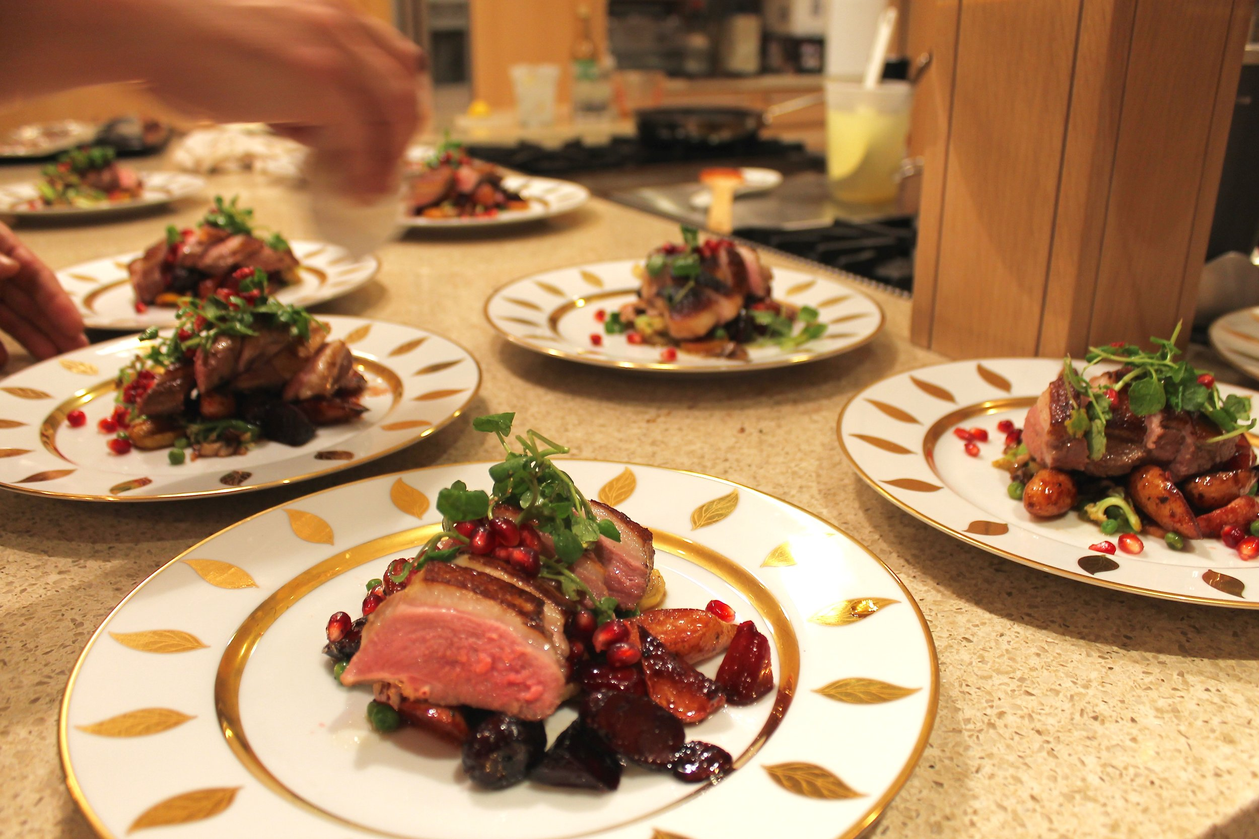 Apple Cider Poached Duck Breast