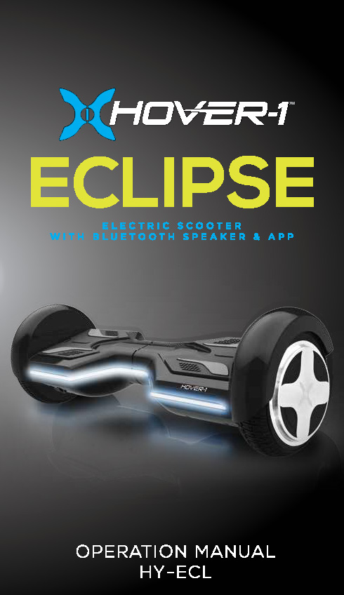Eclipse Operation Manual
