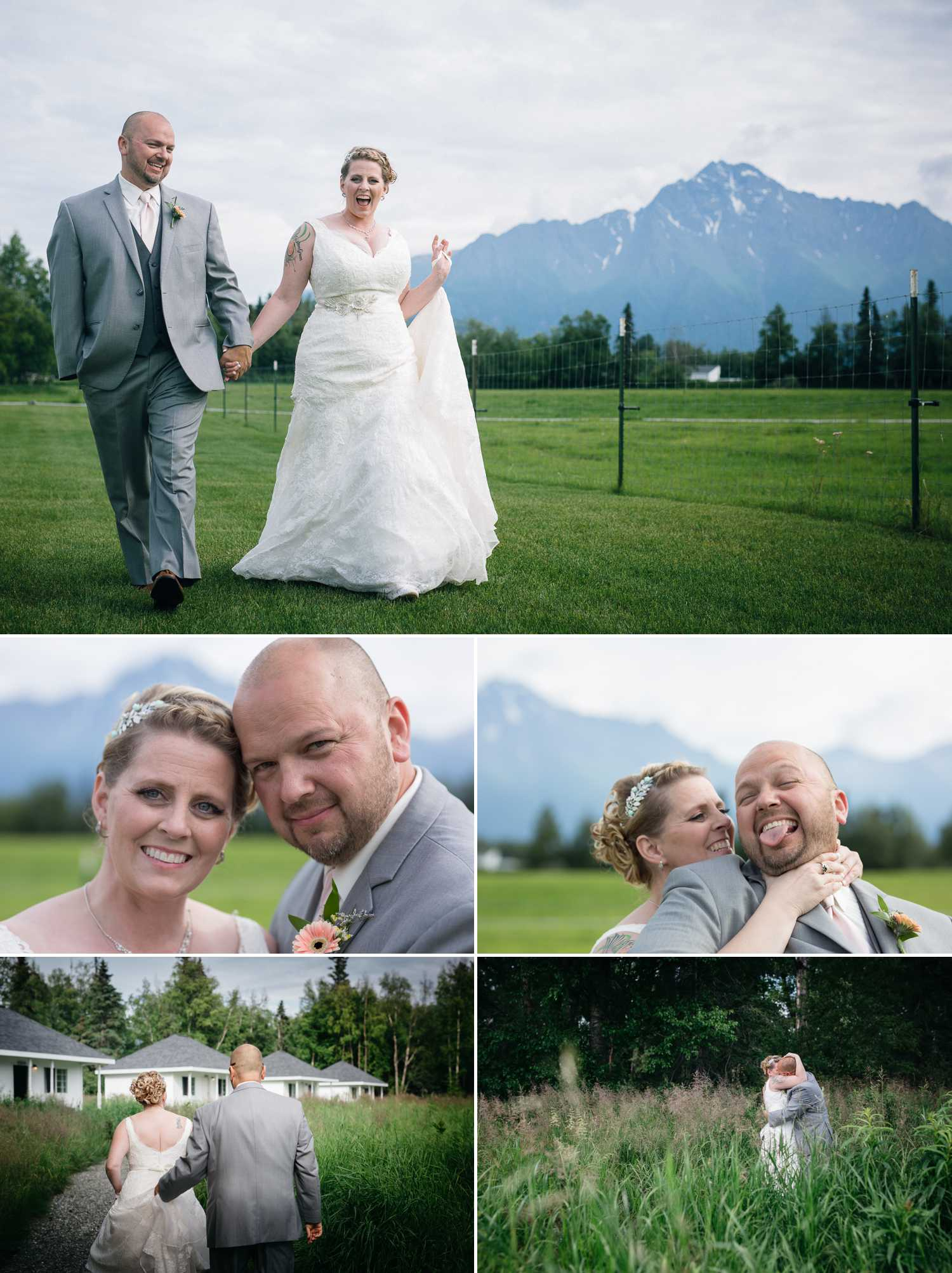 Wedding images at Paradise Alaska
