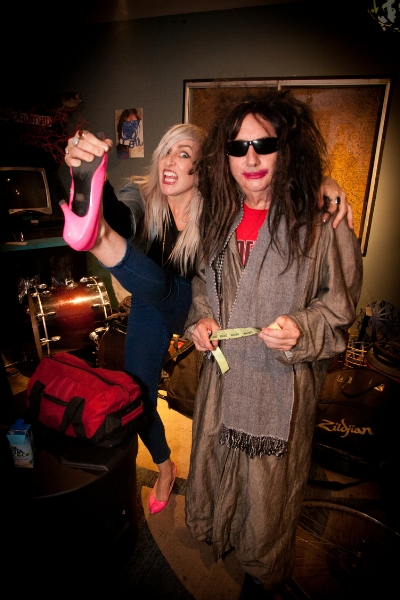 """Bebe McPherson and Gary Wilson, who collaborated on the track """"Anders Saw Karen Centerfold"""" Photo: Leva Ann"""