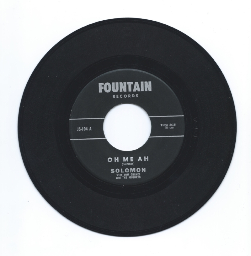 The A Side of our copy of this rare 45, self-released by Jerry Solomon in 1966