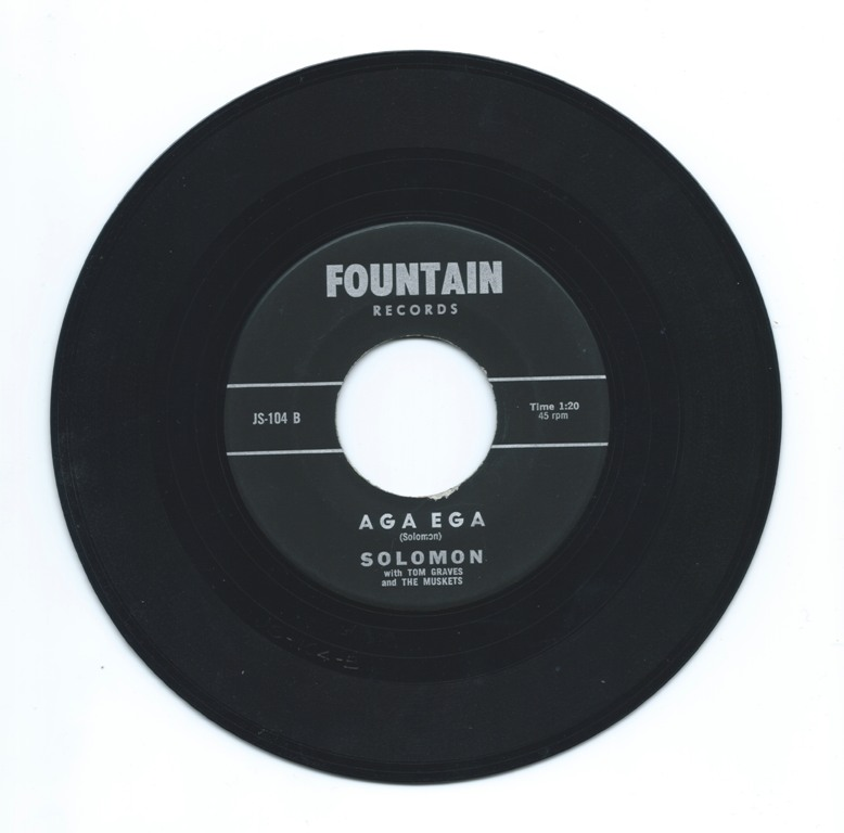 The B Side of our copy of this rare 45, self-released by Jerry Solomon in 1966