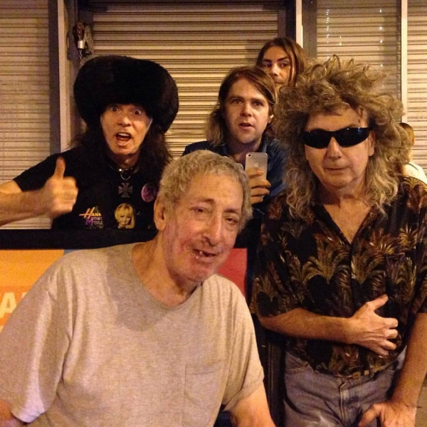 """On October 23, 2015, Ariel Pink and Don Bolles performed """"Circle of Life"""" as part of Ariel Pink presents Cuckoo's Nest. The evening also included live performances by Jerry, Shags Chamberlain, Gary Wilson & the Blind Dates, Old King Cole Younger, and Richard Ross. L-R: Don Bolles, Jerry Solomon, Ariel Pink, Shags Chamberlain, Gary Wilson. Photo: Charlotte Lindèn Ercoli Coe/Charles"""