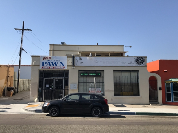 """The building that housed the recording studio where Gary Wilson recorded """"In the Midnight Hour"""" and When I Spoke of Love"""" in 1978. 4274 El Cajon Blvd in San Diego, CA., seen here in 2017"""