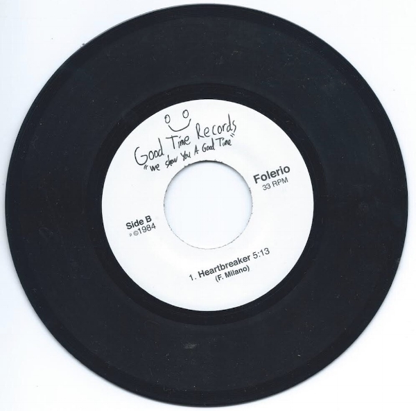 The B side of our copy of Folerio's 45