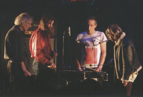 L-R:  Manuel Göttsching, Shags Chamerlain, Oren Ambarchi, Ariel Pink. Photo: Markus Schickel