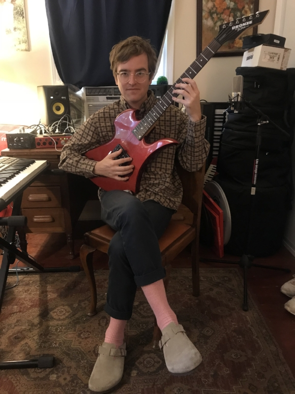 Dent May at his home studio in 2017. Photo: WMF