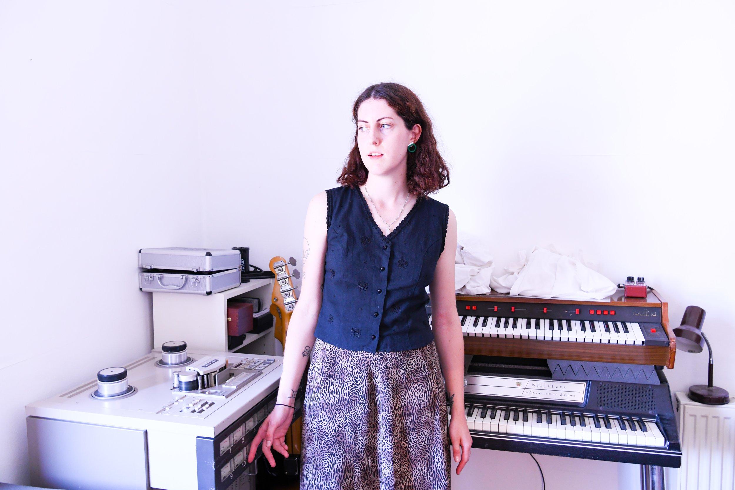 Keel Her (Rose Keeler-Schäffeler) at home in London, 2019. Photo: Cameron Murray