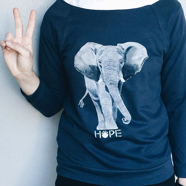 Thank you everyone for all of you support. We have been able to spread #hope for elephants. We still have some ltd edition shirts and pullovers left, be sure to snag em before the holidays! 🐘
