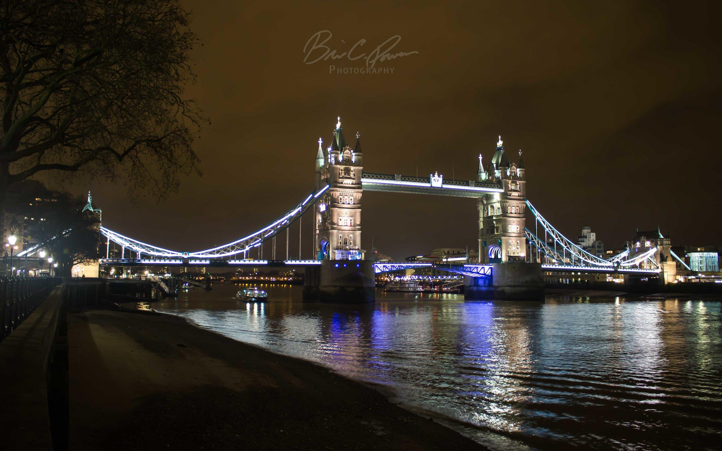Tower Bridge on River Thames