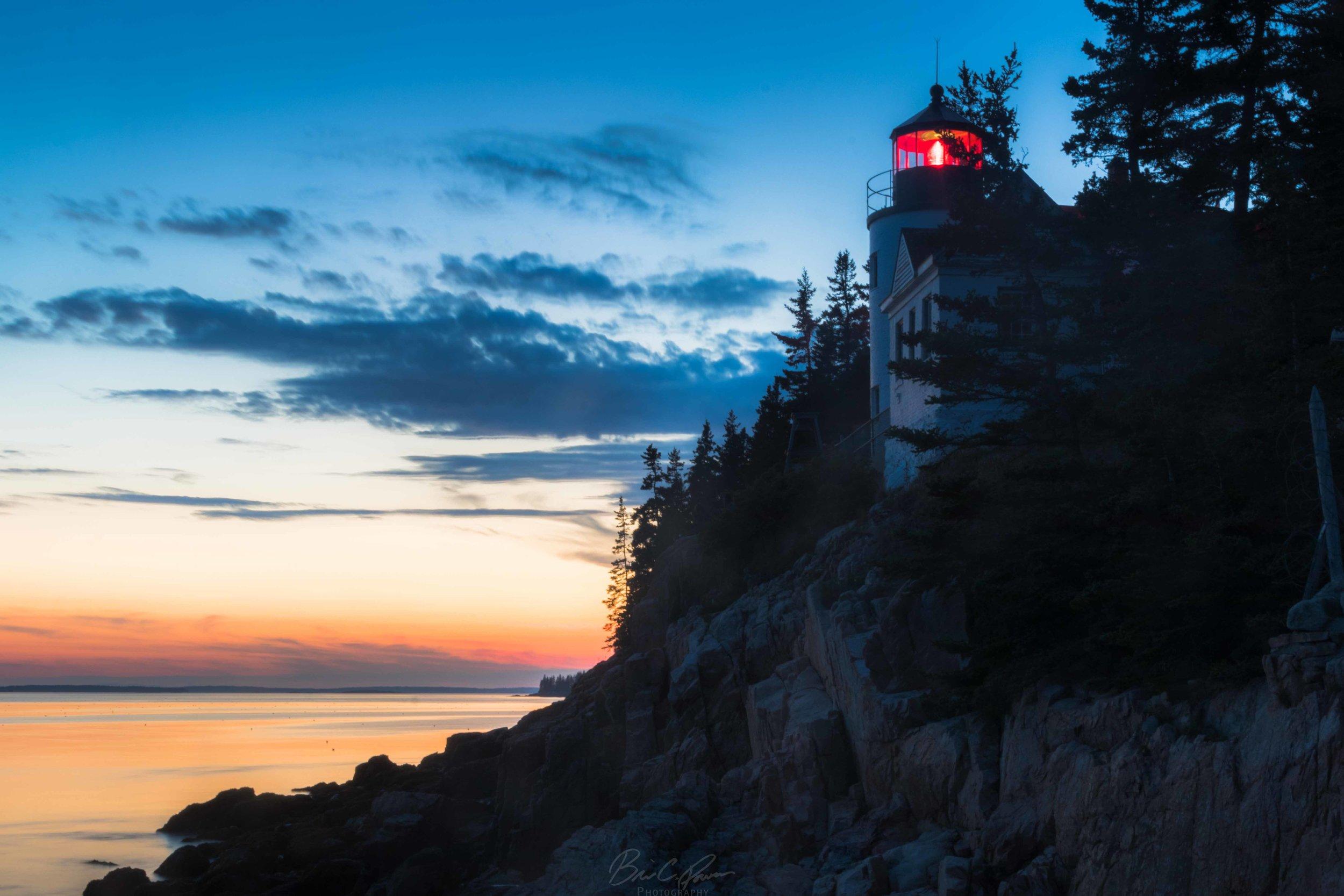 Bass Harbor Head Lighthouse Near Acadia National Park, Maine