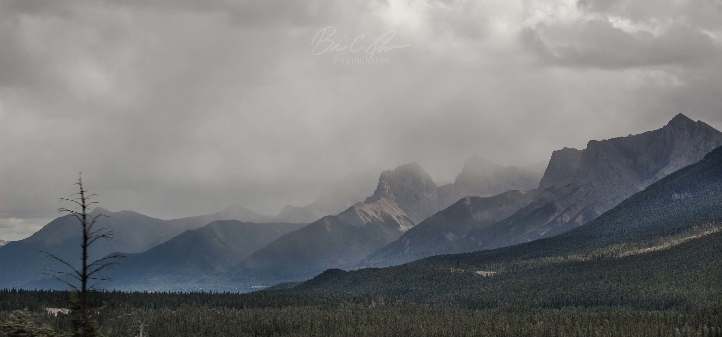 Storm – The road through Kananaskis Country