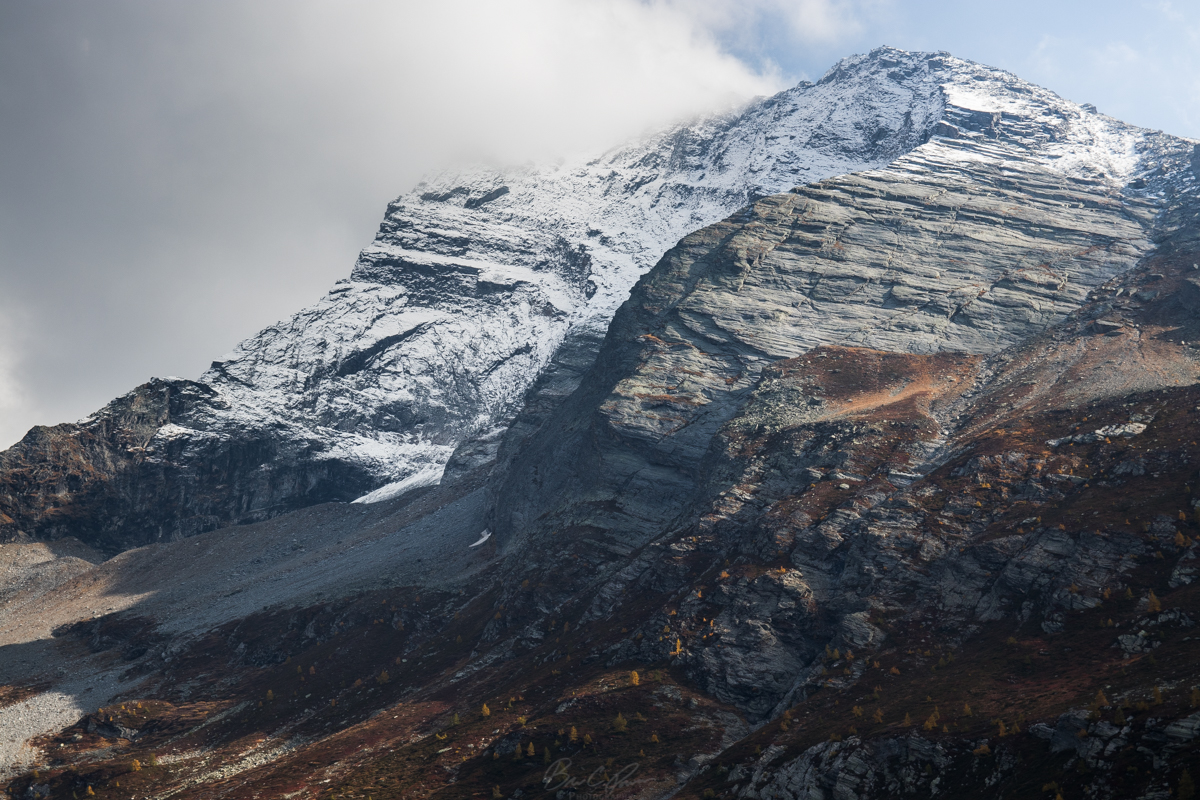 Hubschhorn from the Simplon Pass on the Italy Switzerland Border during Switzerland Road Trip