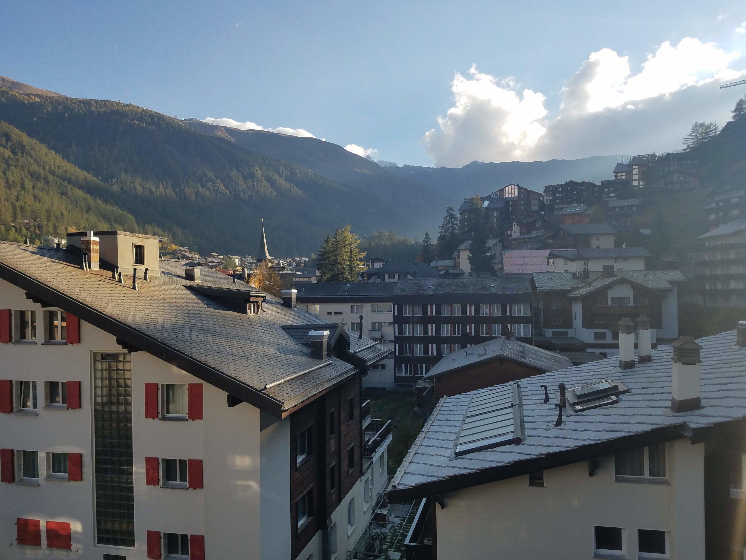 View from Zermatt, Switzerland AirBNB