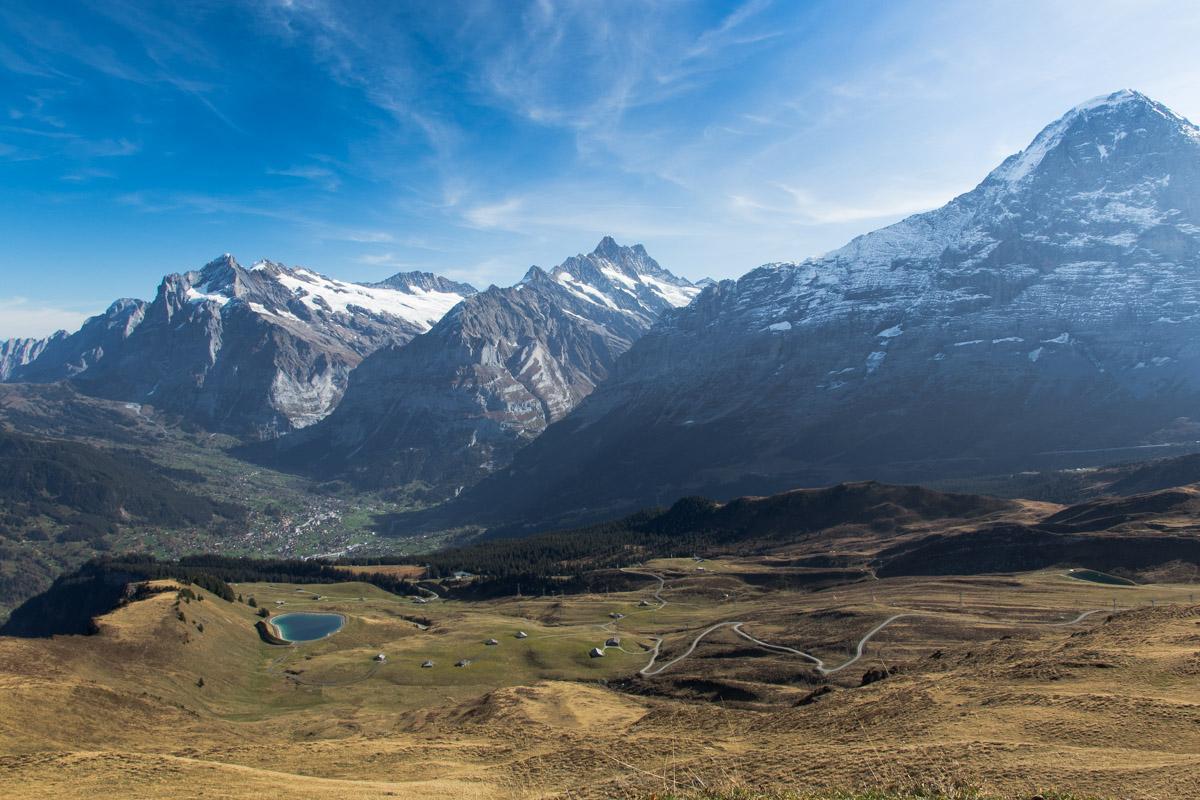 Männlichen to Kleine Scheidegg Hike View of Grindelwald, Switzerland and Eiger