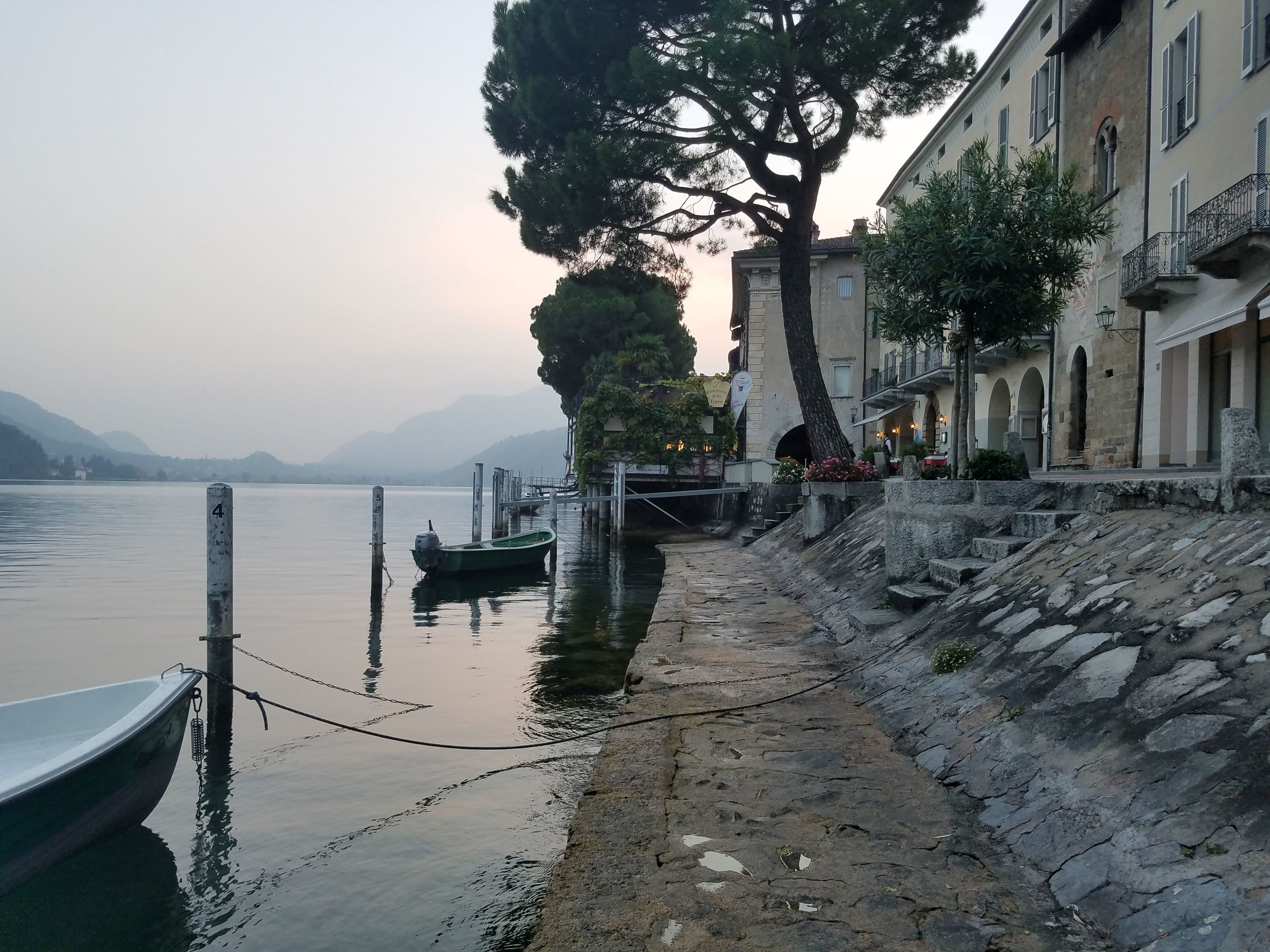 Morcote, Switzerland on the edge of Lake Lugano. The town borders Italy and has some incredible cuisine for such a small place.