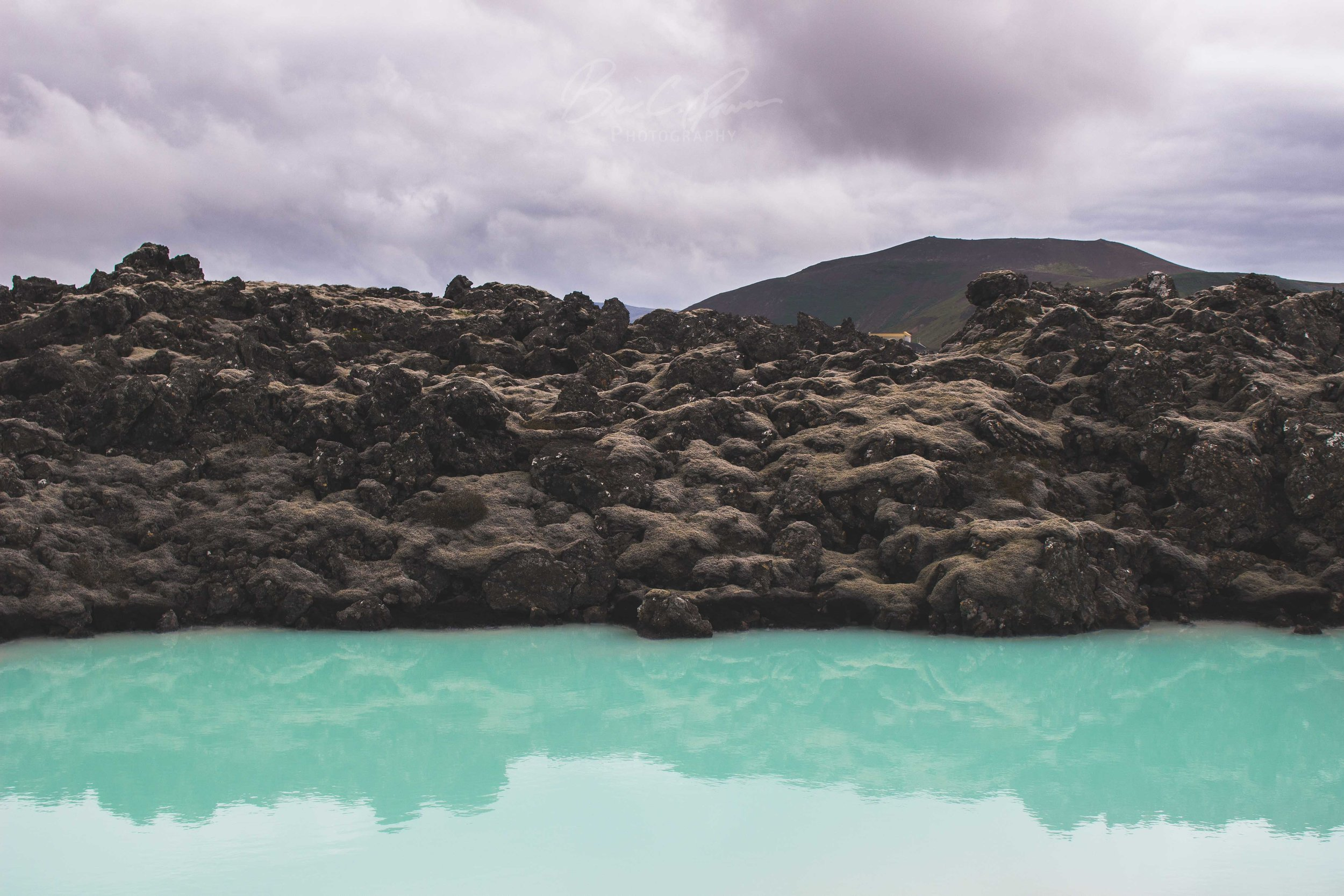 Vivid Blue Waters of Blue Lagoon in Iceland