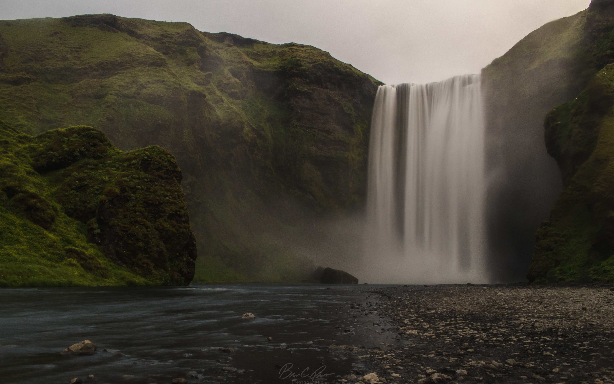Skogafoss waterfall on south coast of Iceland