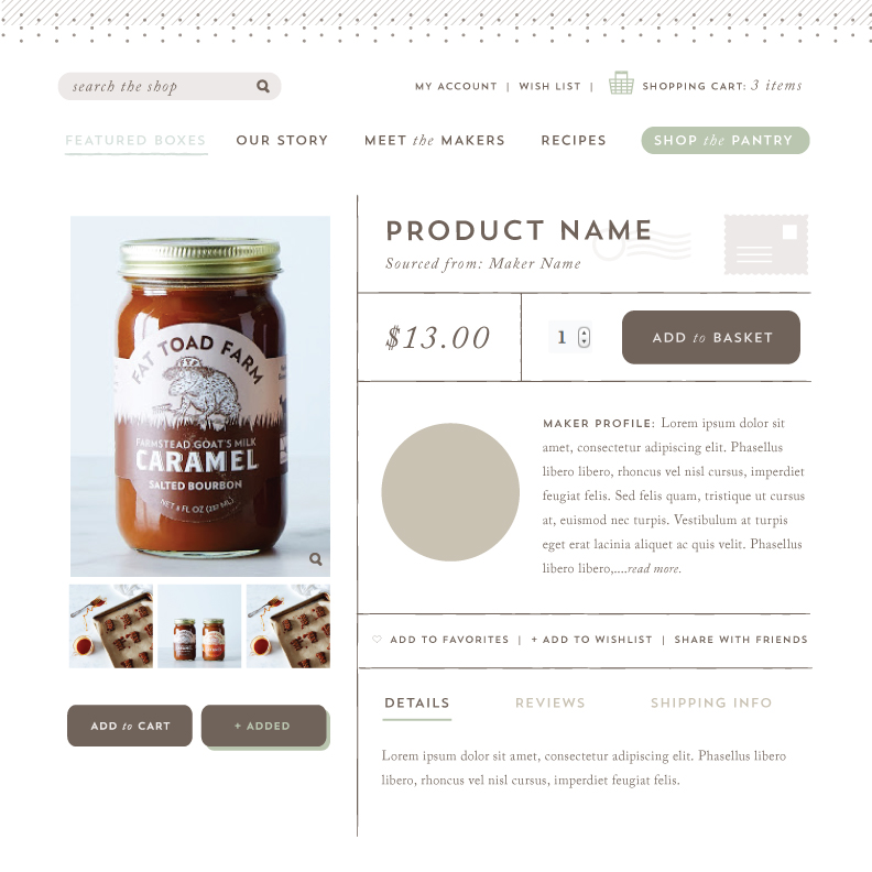 Product listing style tile exploration