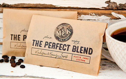 Design your own wedding-themed coffee packets as favors or take advantage of the coffee-related gifts from the many local coffee roasters & shops.