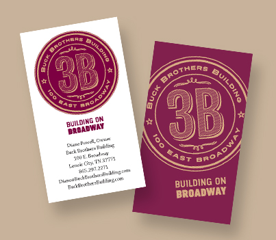 "I made this logo and business card design for a cool old building in Tennessee that can be rented for events. We wound up printing these on a rustic tan paper and they look great. The client said, ""You totally got what I was going for!! What a  thinking  designer! I love it. I love it. I love it!"""