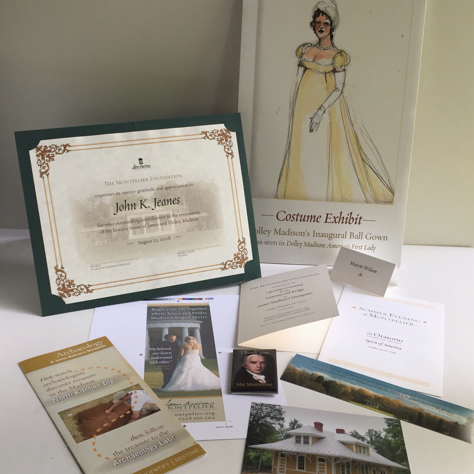 As assistant director of communications at James Madison's Montpelier, I had a chance to design all kinds of fun things! A2Z Design developed a wonderful look-and-feel for our printed collateral, and I carried out that style for all our in-house pieces.