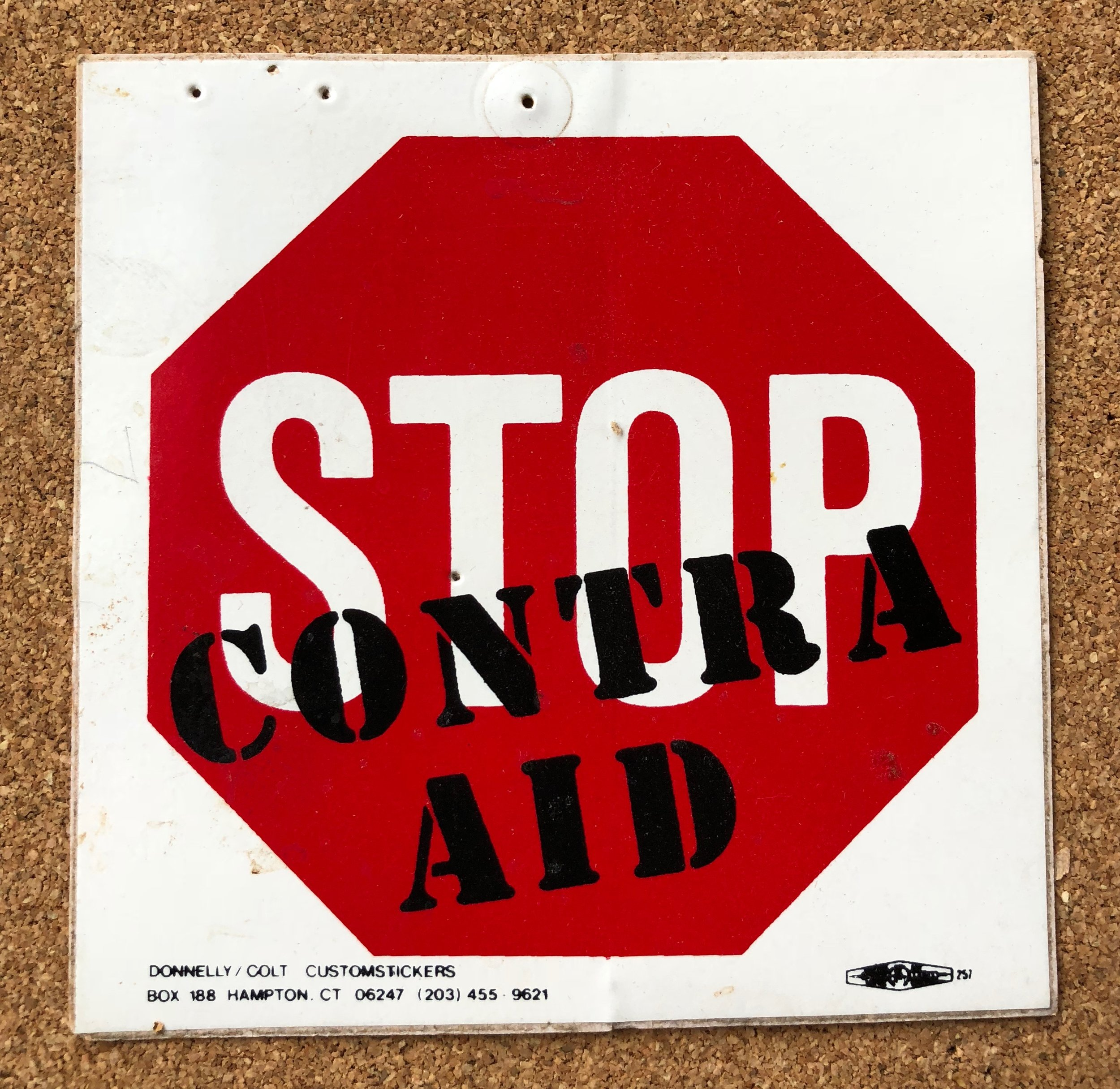 Sticker: Stop Contra Aid
