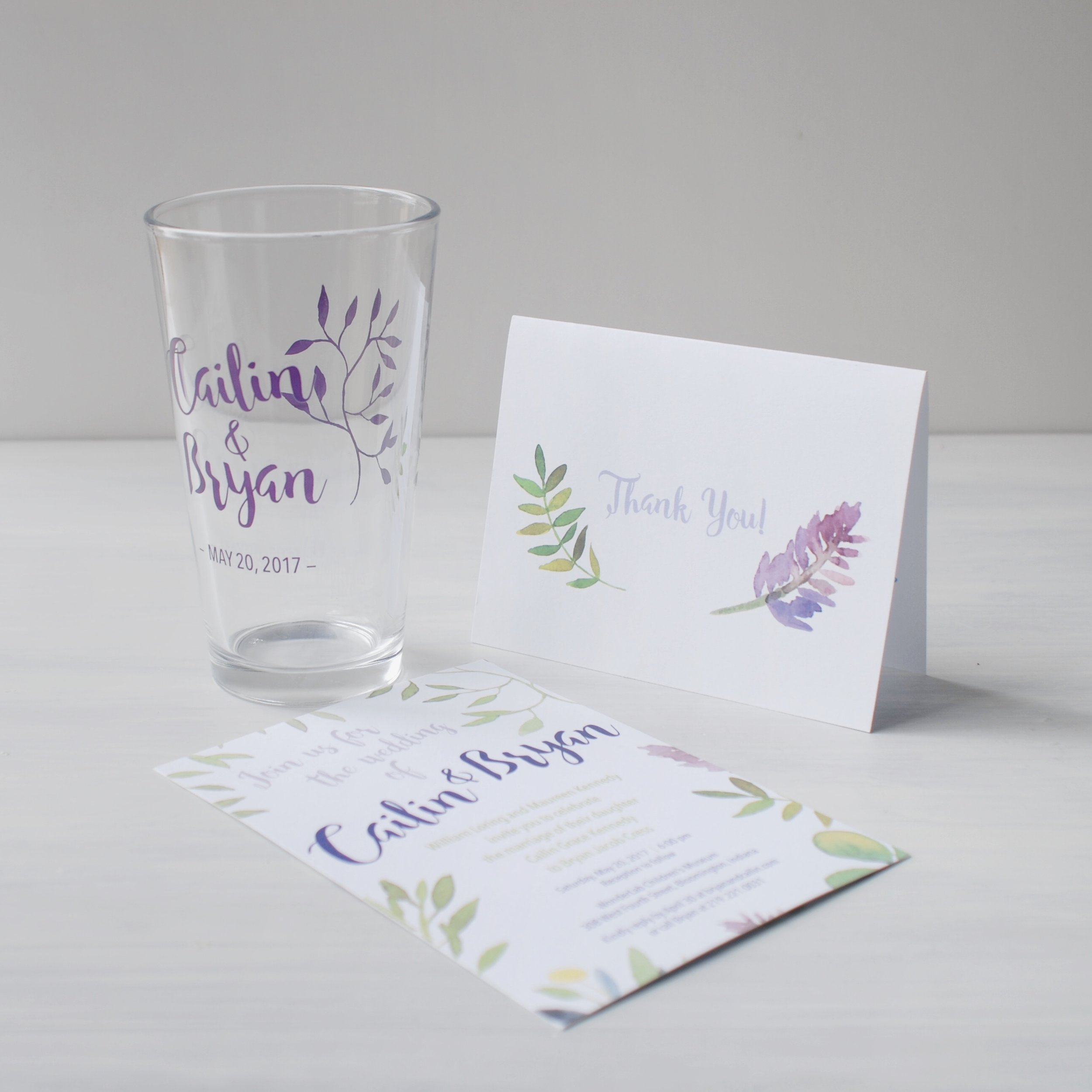 For an informal wedding on a budget, we had the most important pieces commercially printed, and produced others on the bride's home printer.