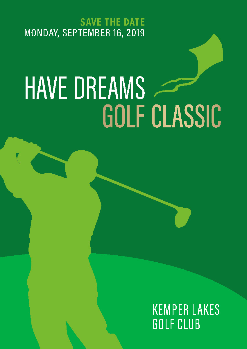 The Have Dreams organization creates opportunities for people with autism, and their logo is a kite soaring in the wind. I was happy to provide a clean and elegant new look for their annual golf classic fundraising event.