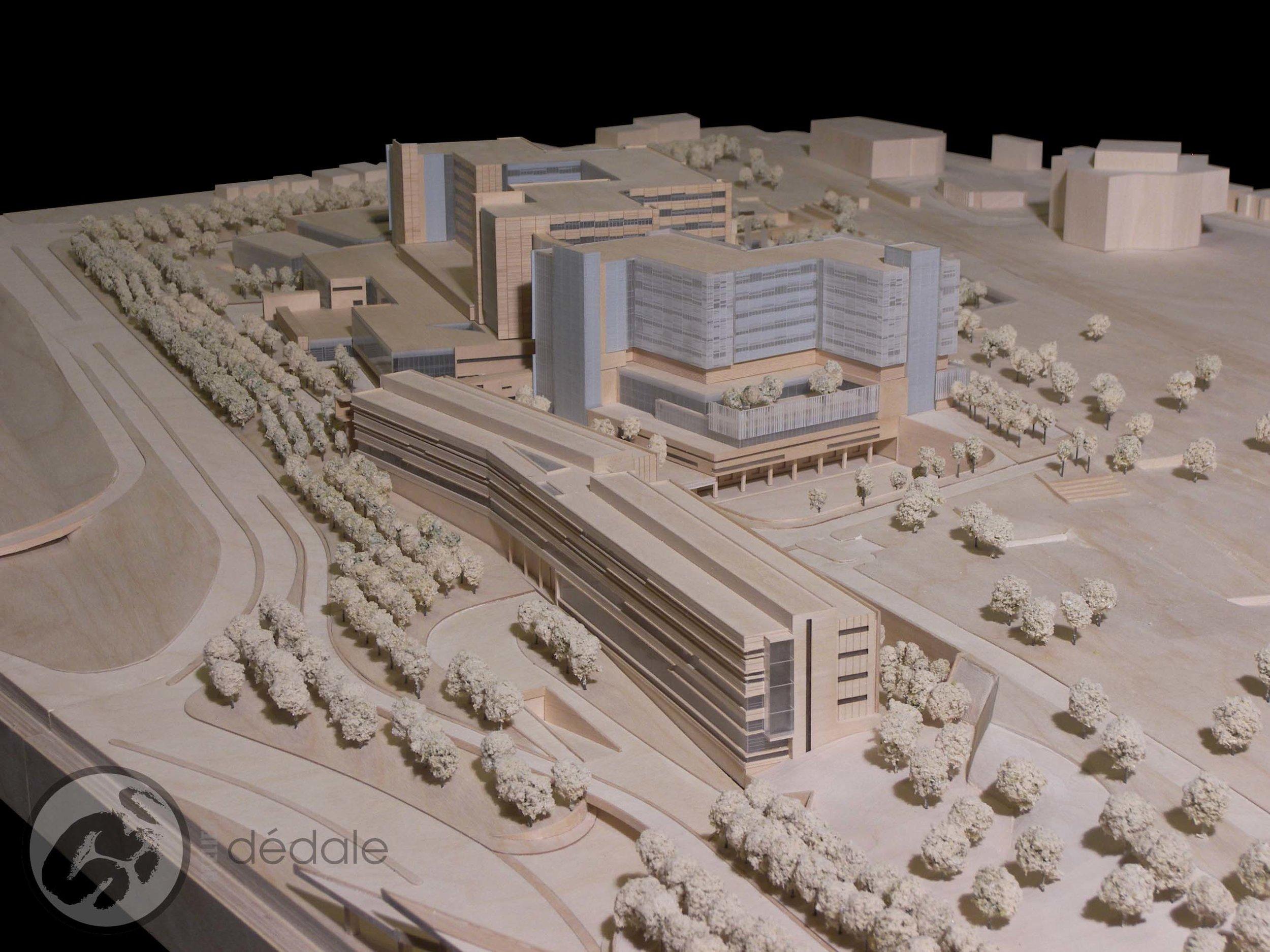 Projet MUHC maquette architecturale