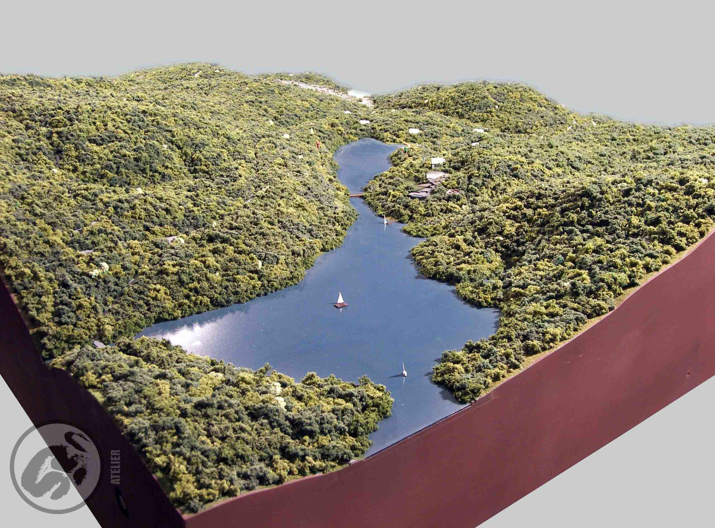 Projet Lac en ciel maquette architecturale