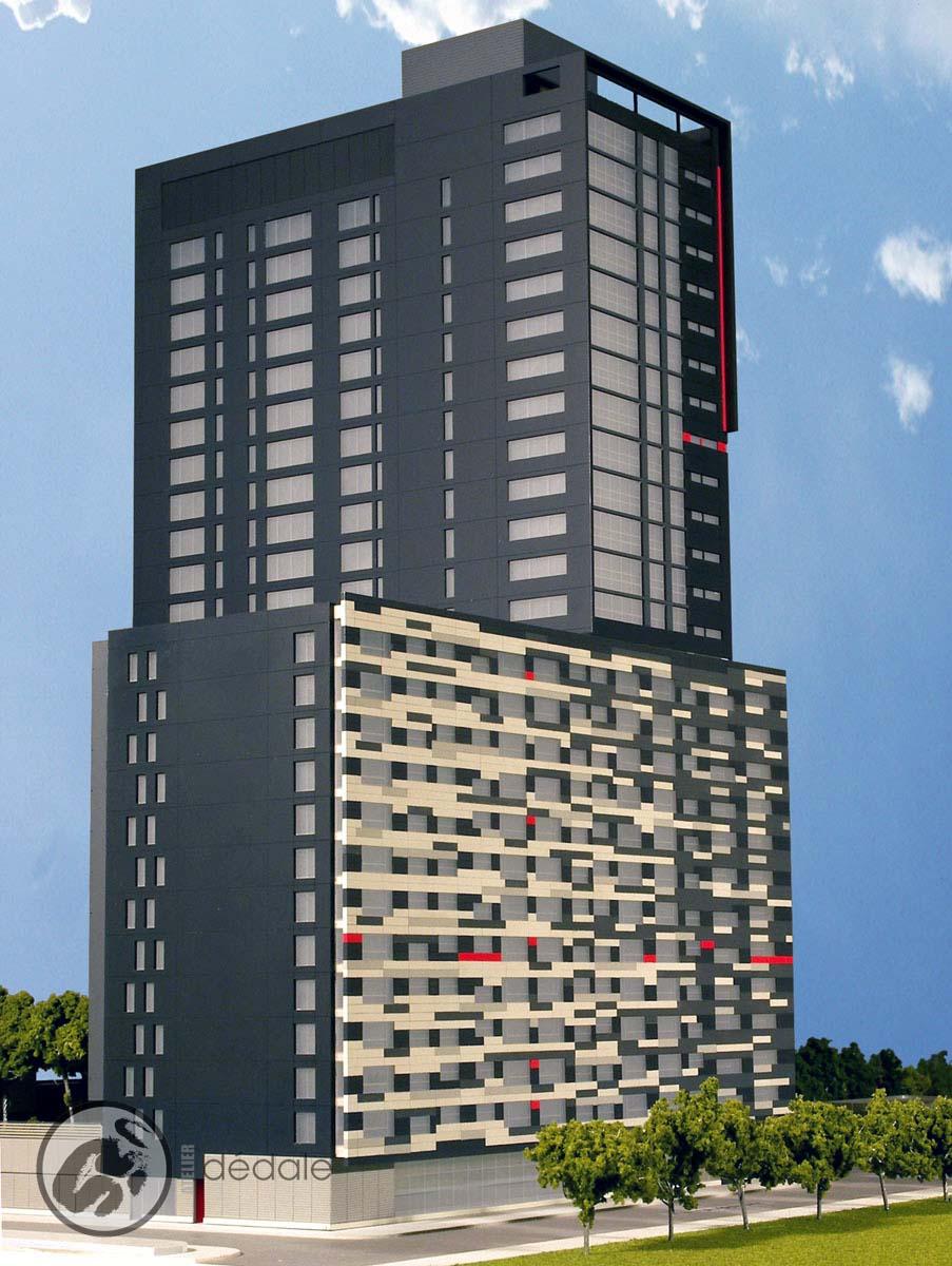 Louis Bohème project architectural models