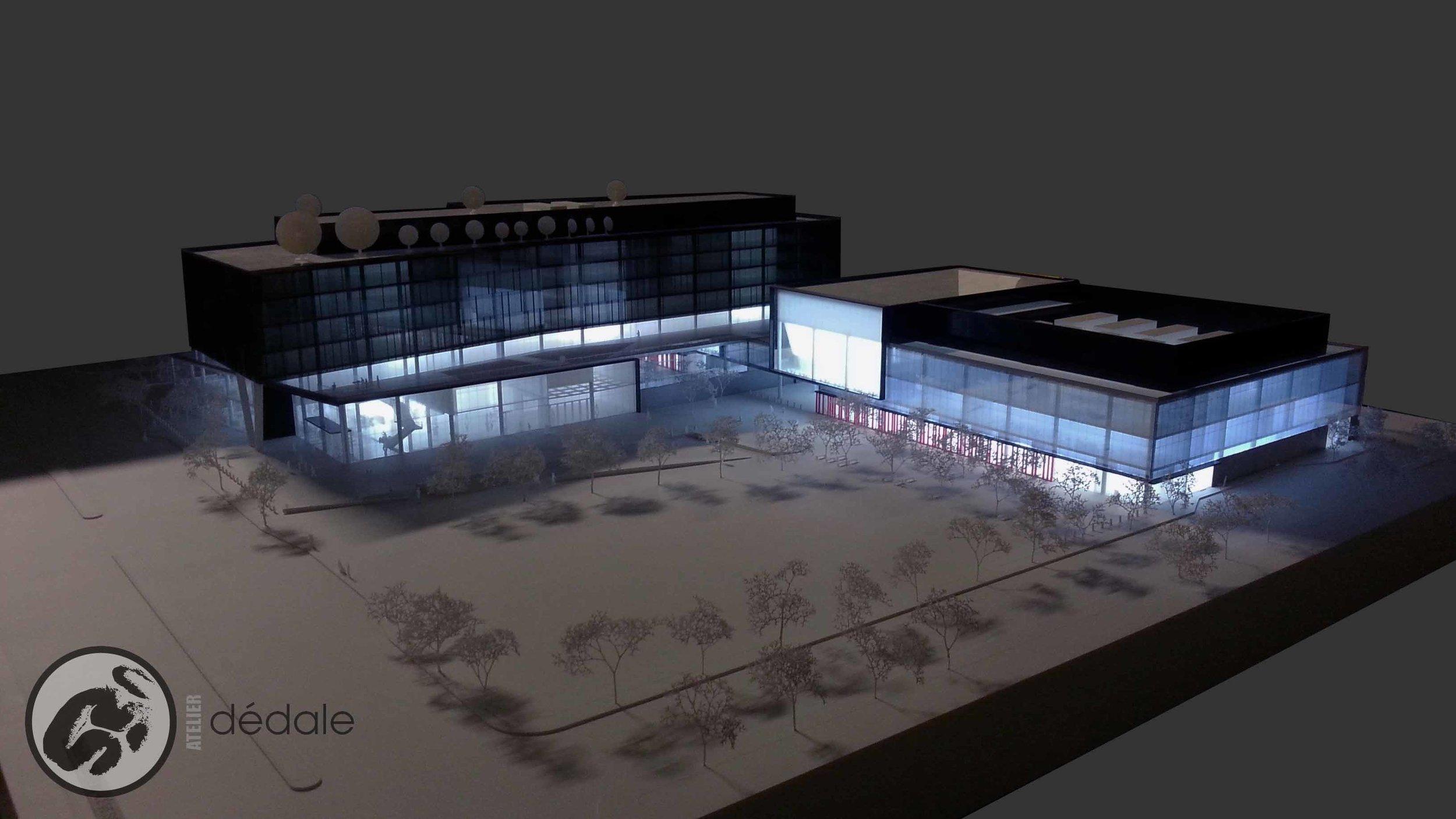 Radio Canada maquette architecturale