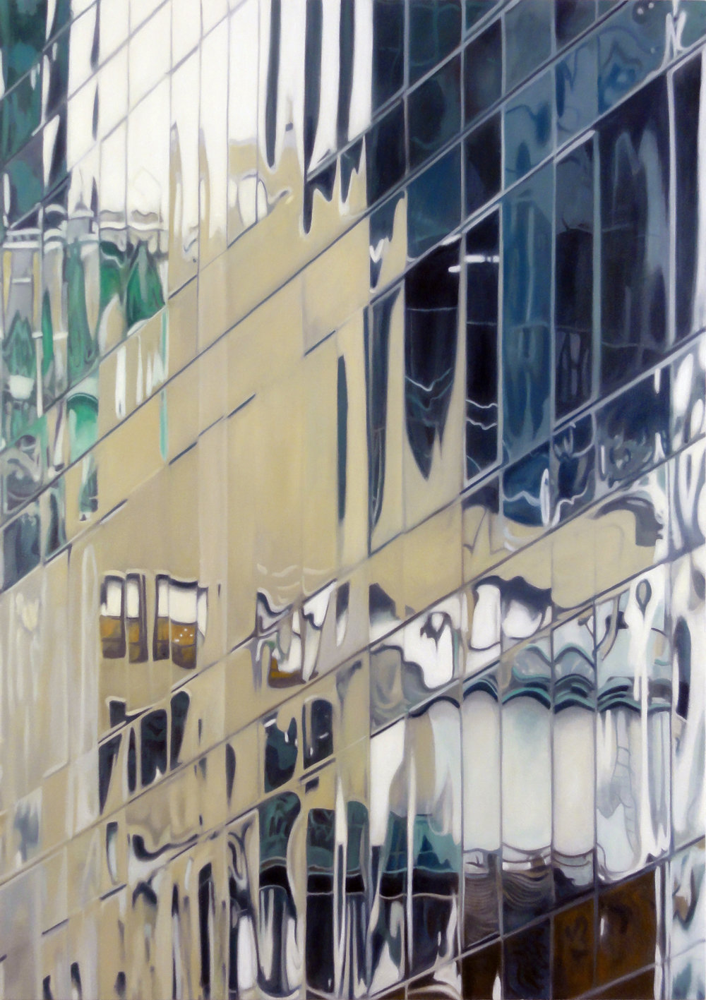 57TH STREET OIL ON CANVAS 48X34 IN