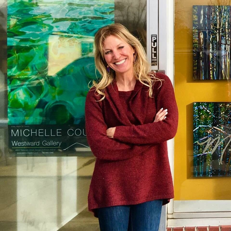 Michelle Courier, owner and resident artist.