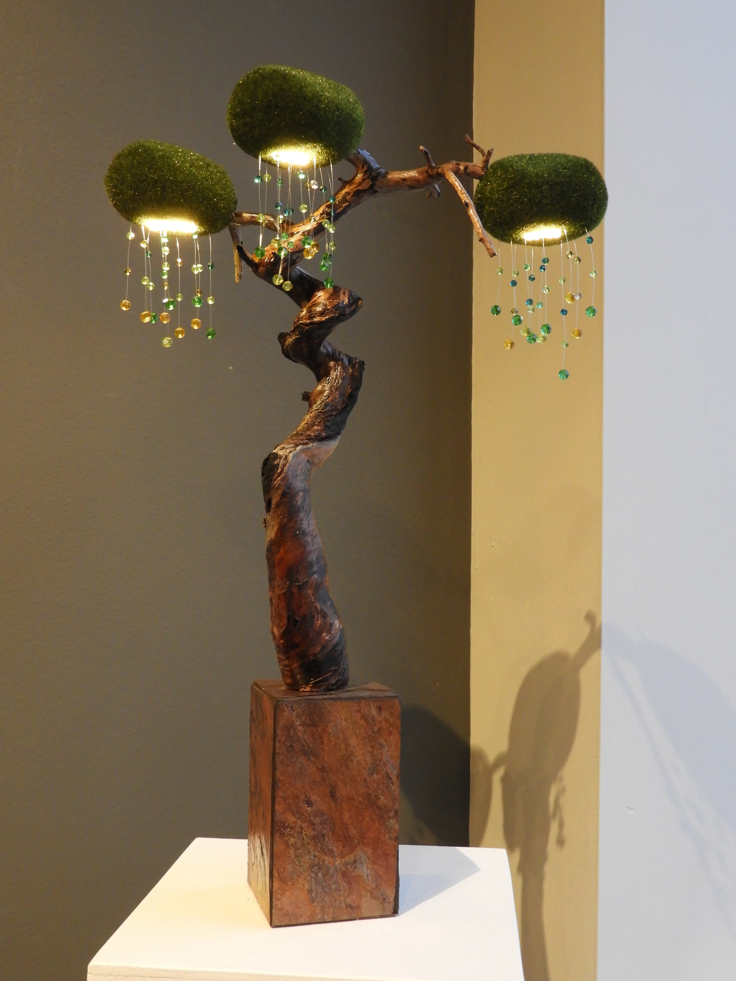 "WHERE THE WILD THINGS ARE #1, ILLUMINATED SCULPTURE W-9""X D-6"" X H-18"" IN $380"