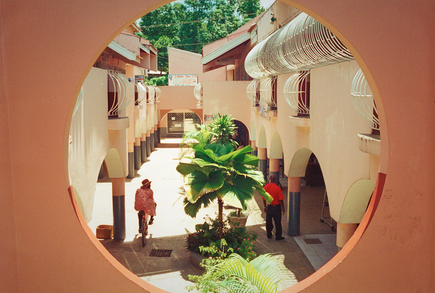 Razor Wire Portal. Negril, Jamaica