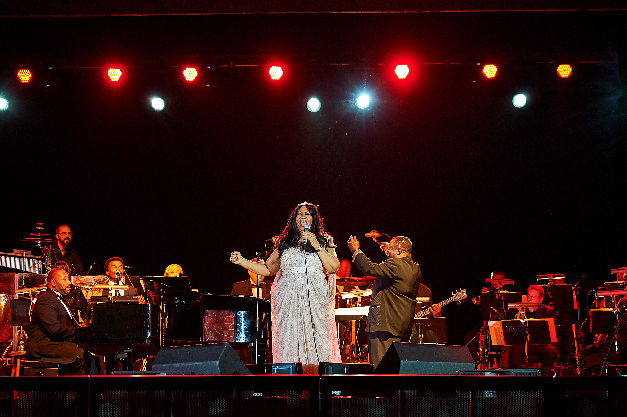Aretha Franklin performs in the Sanford Field House as part of the Kerschner Family Series Global Leaders at Colgate University.