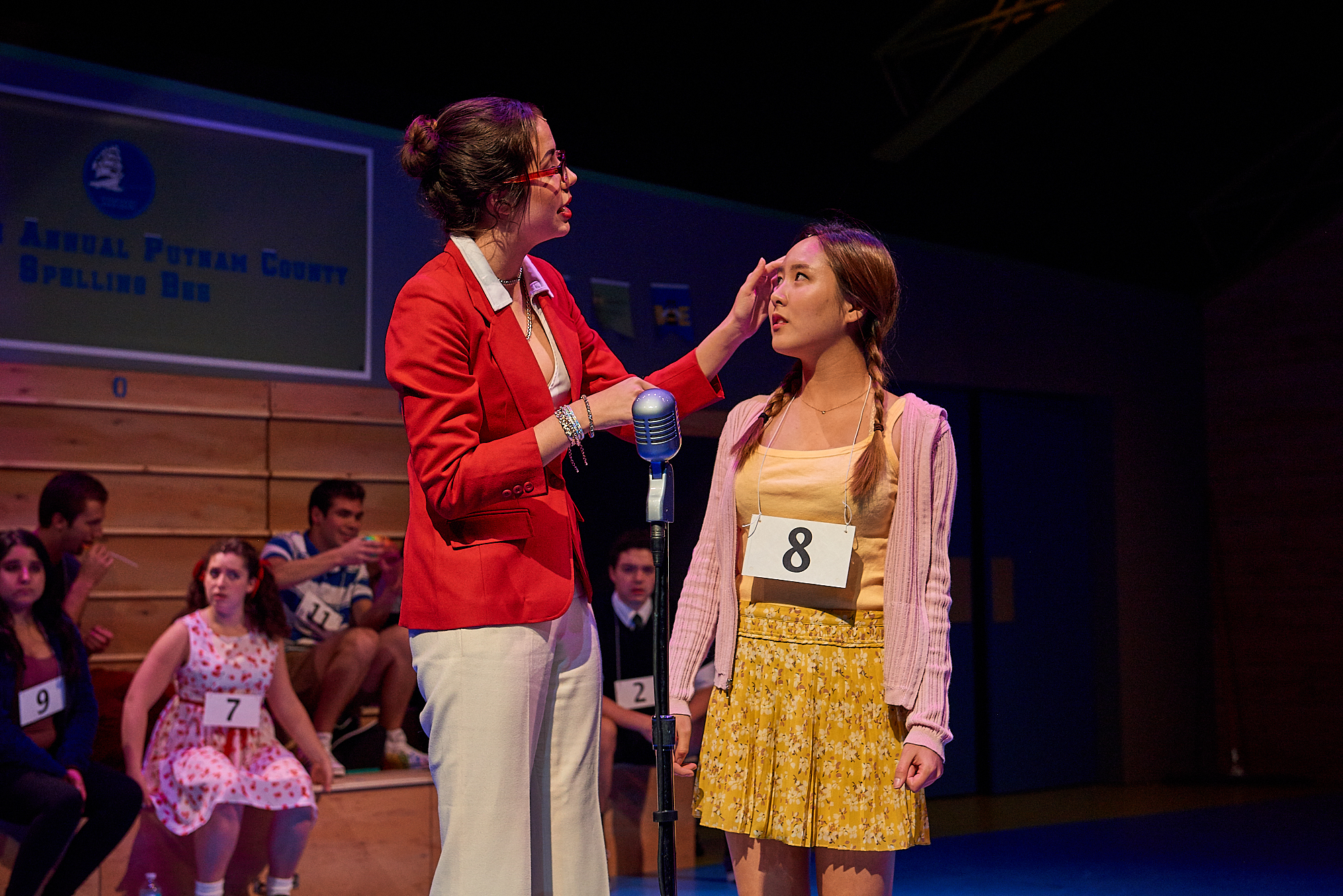 Colgate University's Autumn Musical Production: The 25th Annual Putnam County Spelling Bee at the Brehmer Theater. The play features a score by William Finn and is based on a book by Rachel Sheinkin. Directed by Simona Giurgea, with Musical Direction by Frederick Willard.