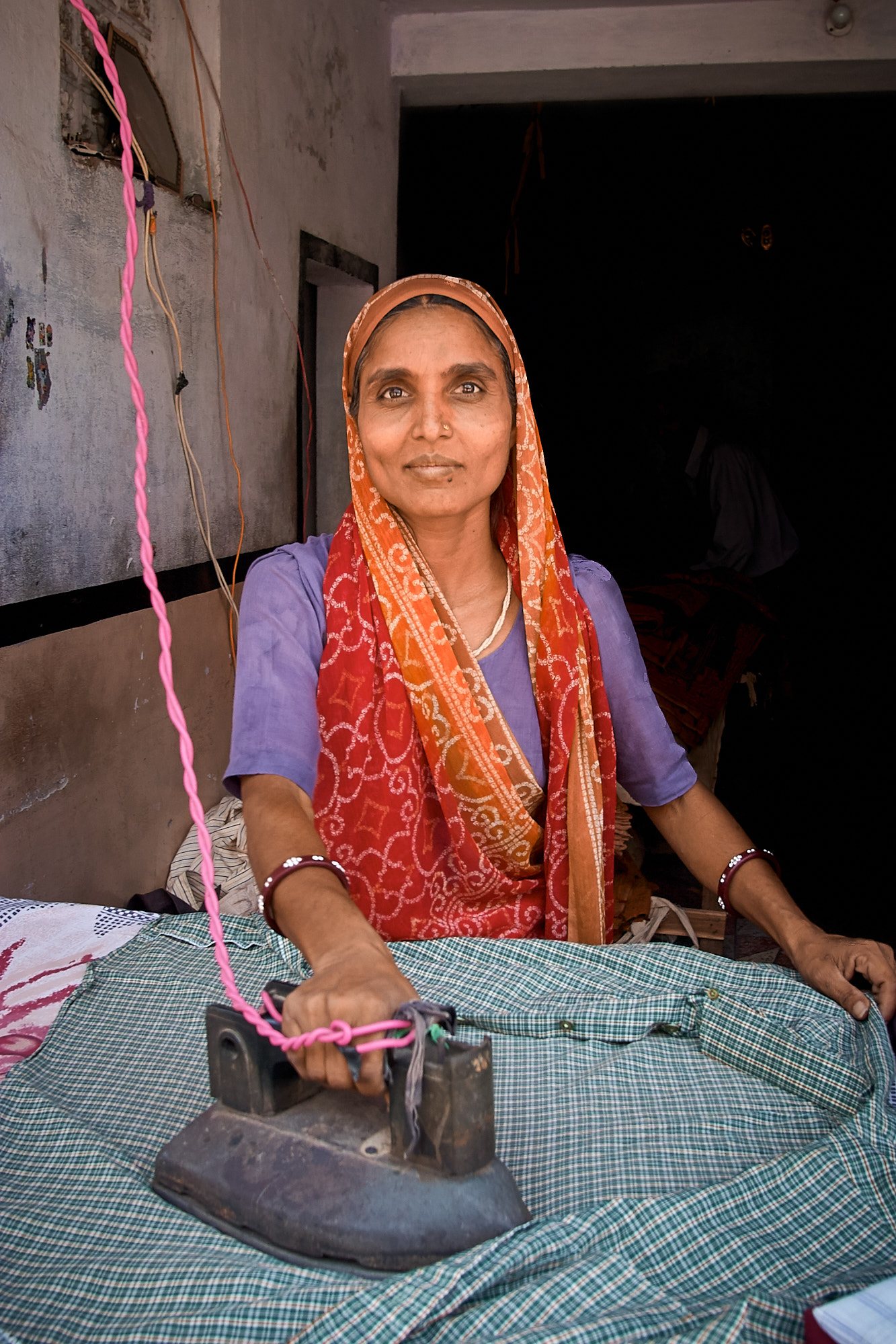 Woman Ironing, Jaipur, India