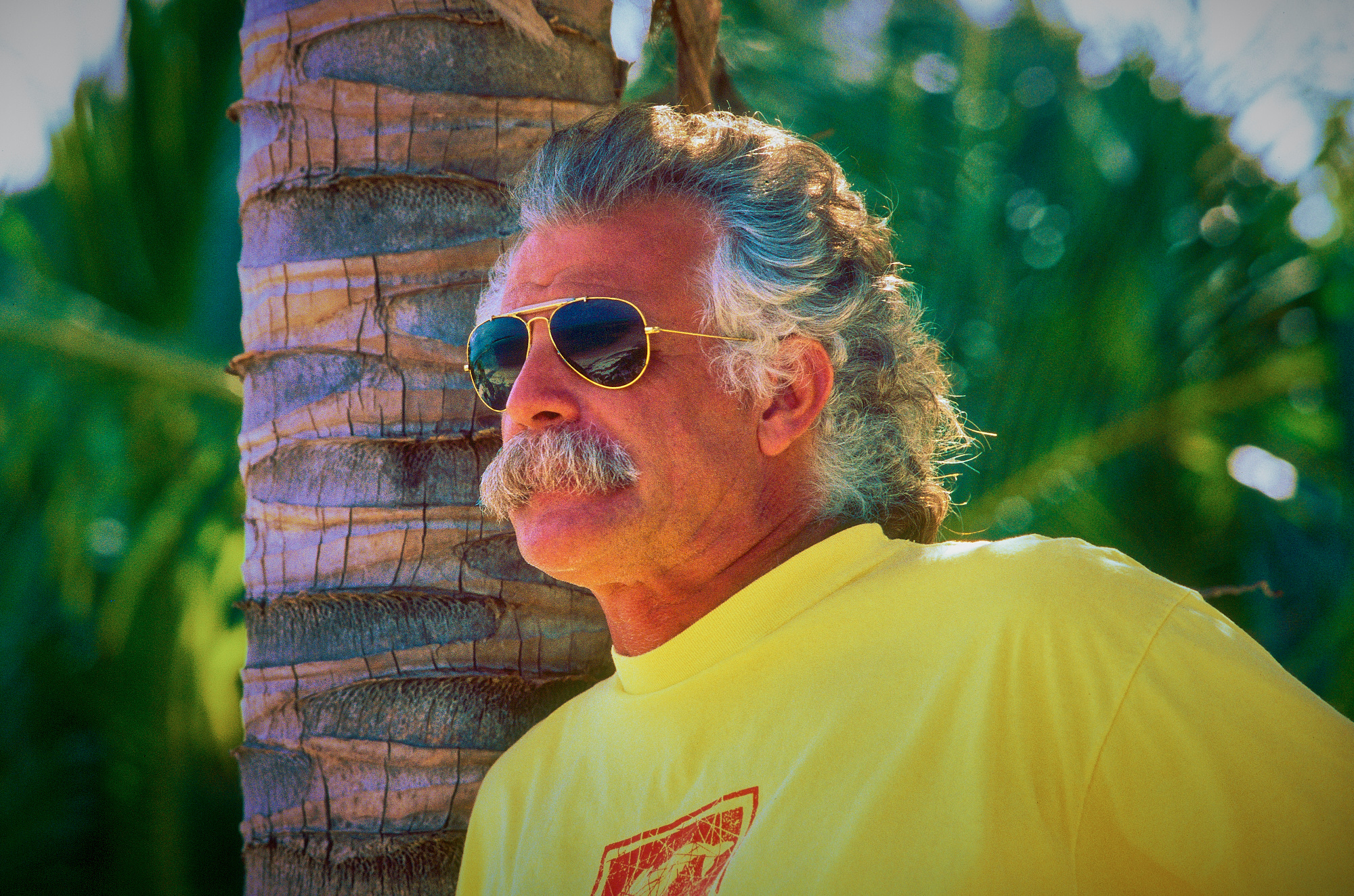 Portrait of Ex-Pilot Jerry Hawk, Little Cayman, Cayman Islands