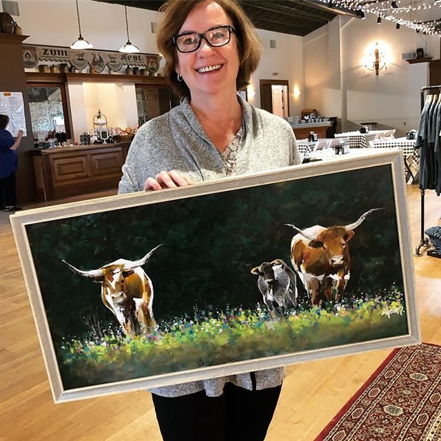 This one is heading to The Woodlands, Tx.  #thankful #longhorns #texasartist