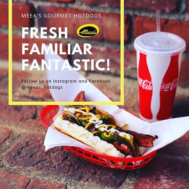 Make it a combo! See you soon :) Follow us @meeas_hotdogs