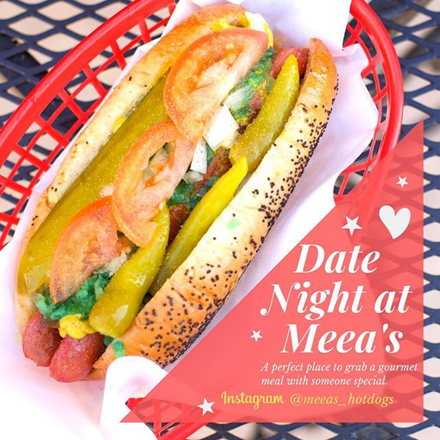 Happy Valentine's Day from Meea's! Perfect place for date night :) #hotdog #food #foodporn #foodie #foodofinstagram #instafood #eaglerock #meeas #meeashotdogs #meeas_hotdogs #foodheaven #yummy #yum #foodbaby #hotdogs #foodblog #foodpics #foodpic #foodpictures #foodbliss #foodblogger #nomnom #nom #foodphotography #highlandpark #nela #glendale #pasadena #tasty #valentinesday