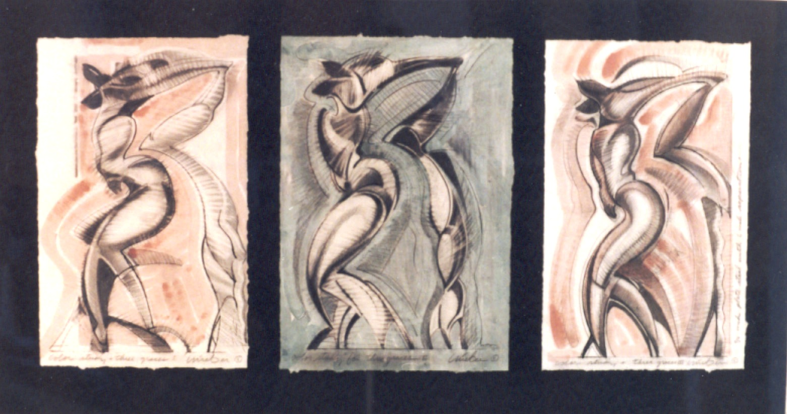 Color Study for Three Graces II