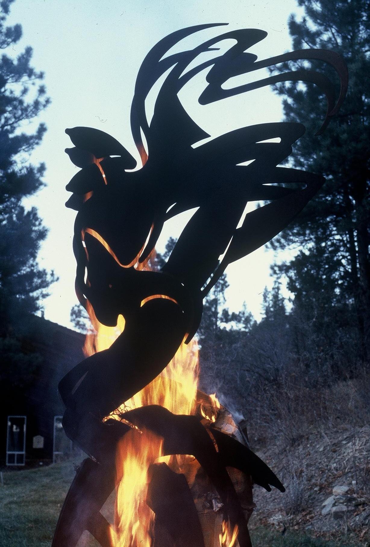 8 Foot Steel Fire Walker - Photo taken in Durango, Colorado