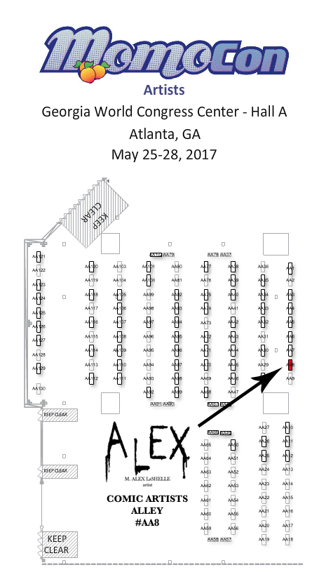 MomoCon 2017 — Art of M. Alex LaSe on us house of representatives district map, atlanta map, fox theatre map, marietta map, united states map,