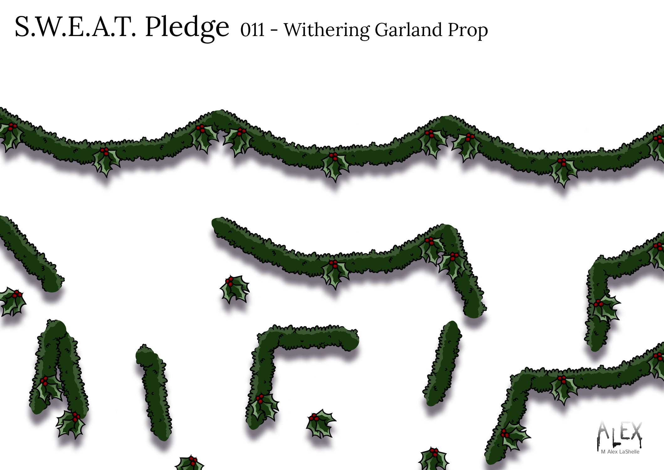 S.W.E.A.T. Pledge Withering Garland